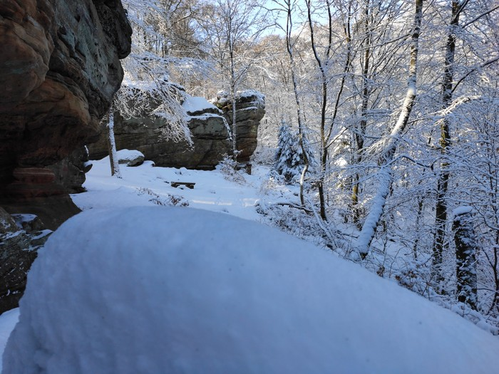 Felsenpfad Kirkel Winter