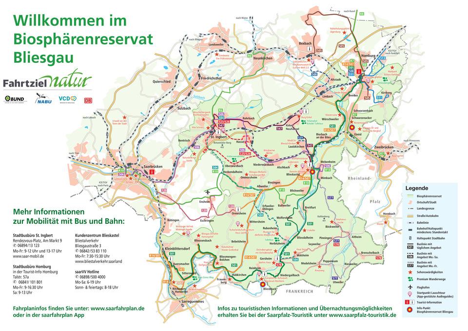 Übersichtskarte Biosphäre Bliesgau