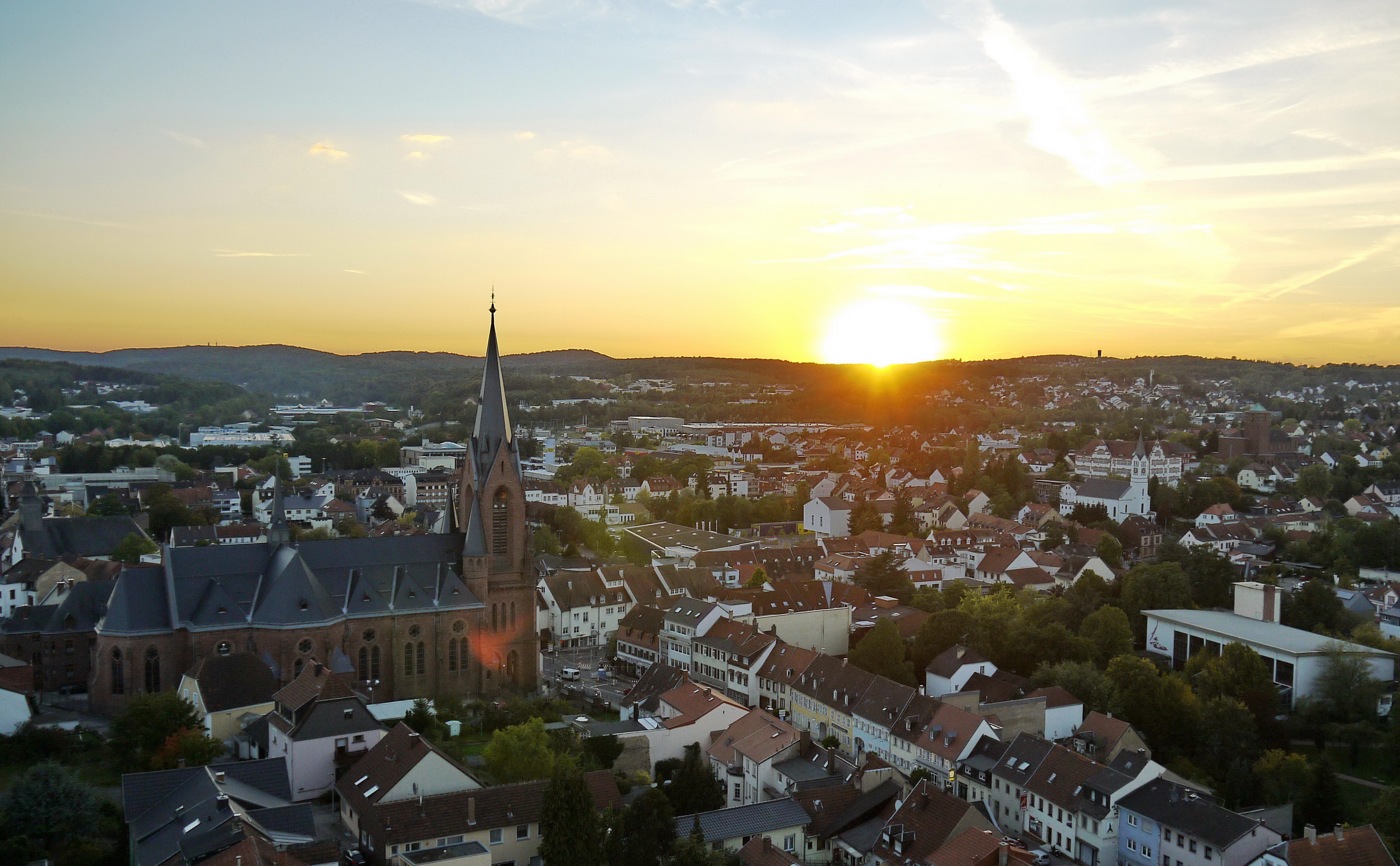 St. Ingbert von Oben, Luftbild, Aussicht Beckerturm