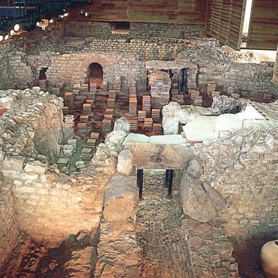 Überreste der Thermenanlagen im Europäischen Kulturpark