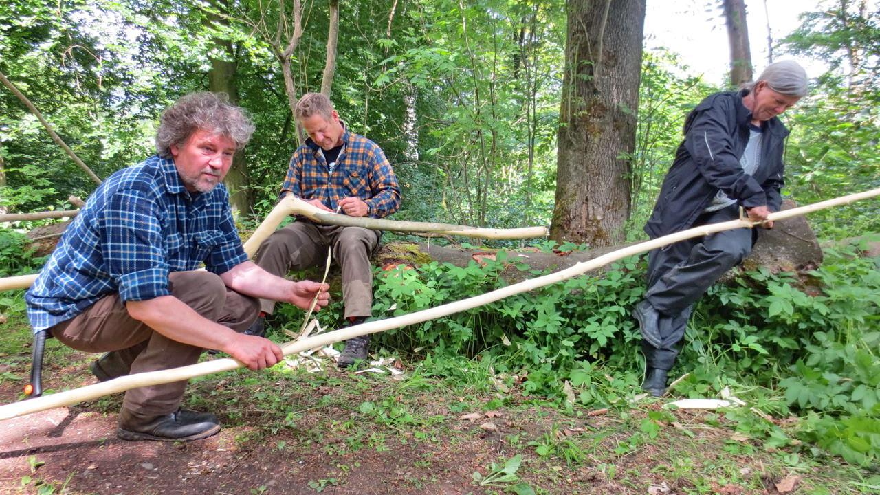 Vorbereiten der Baumaterialien
