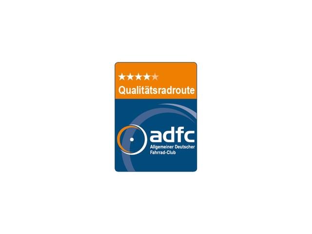 ADFC Qualitätsroute Logo