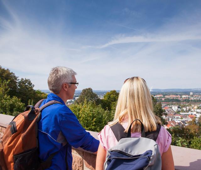 Wandern auf dem Schlossberg in Homburg