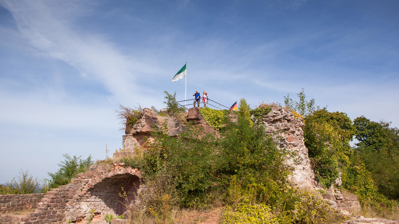 Festungsanlage der Ruine Hohenburg in Homburg