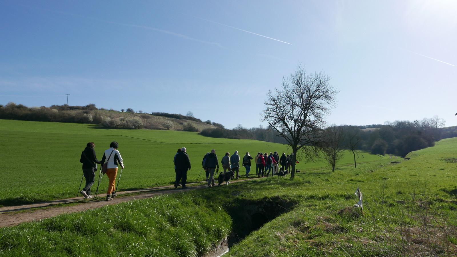 Wandergruppe bei Altheim