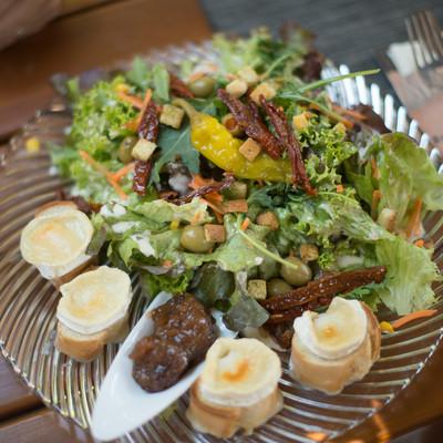 Salatteller aus dem Restaurant zum Pferchtal in Lautzkirchen