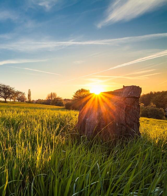 Sonnenuntergang in der Biosphäre Bliesgau