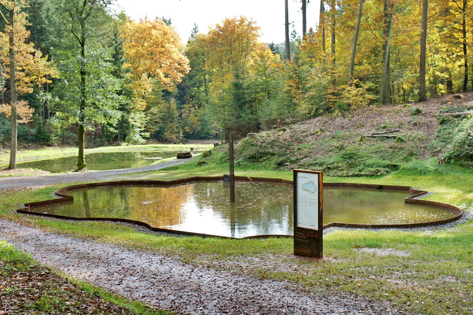 Tosbecken Waldpark Schloss Karlsberg