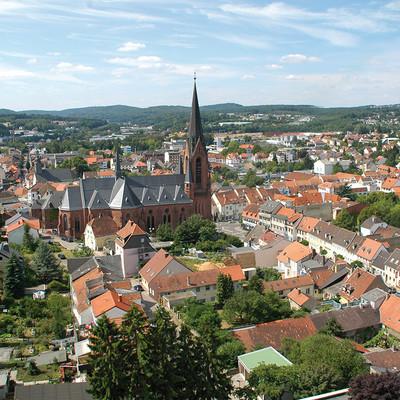 Luftansicht Stadt St. Ingbert