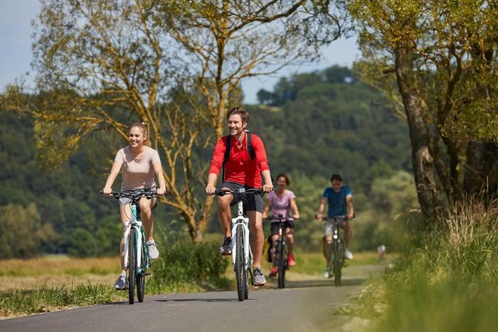Radfahrer auf dem Glan-Blies-Radweg