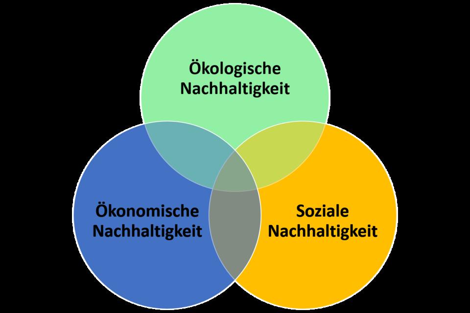 """Das """"Drei Säulen Modell"""" der Nachhaltigkeit"""