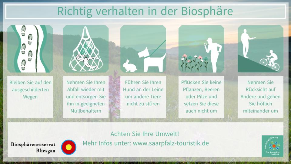Richtig verhalten in der Biosphäre