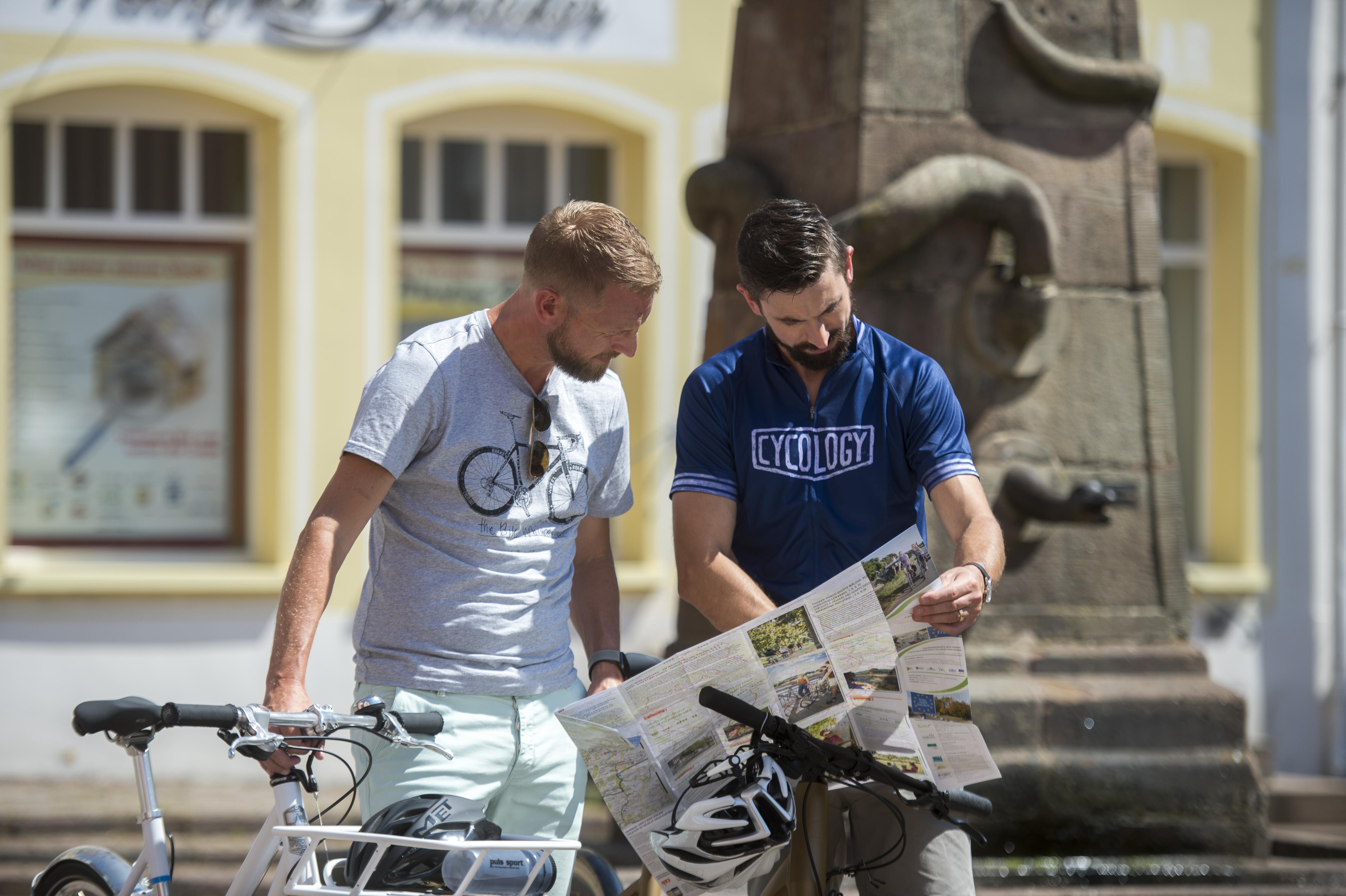 Radfahrer in der Barockstadt Blieskastel