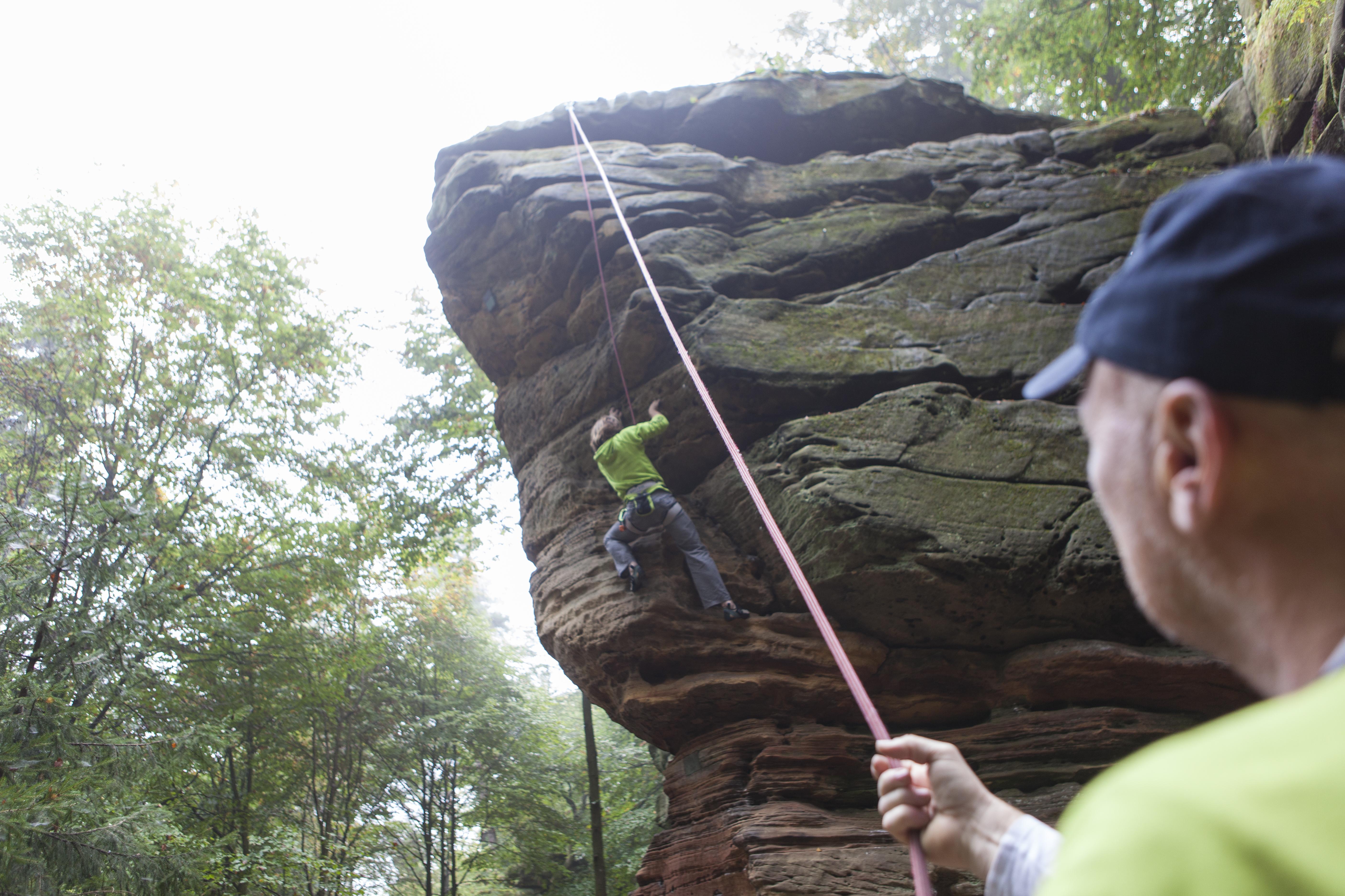 Felsklettern im Kirkeler Wald