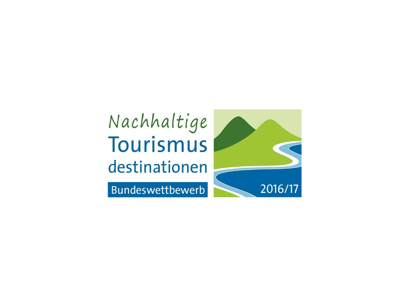 Logo Bundeswettbewerb nachhaltige Tourismusdestination