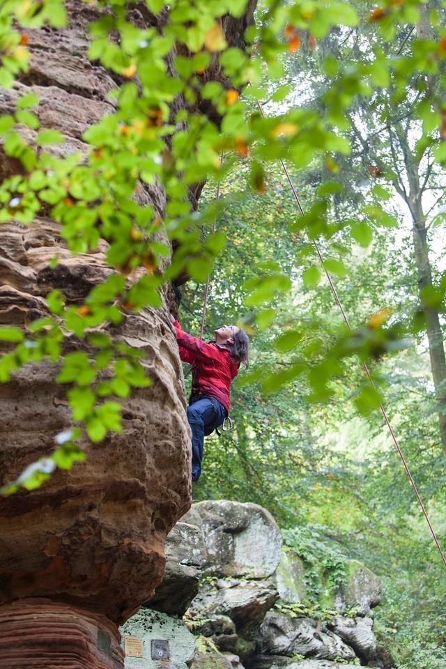 Felsklettern im Kirkler Wald