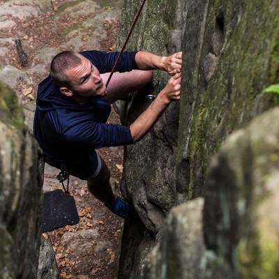 Konzentration ist beim Klettern besonders wichtig