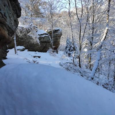 Kirkeler Felsenpfad im Winter