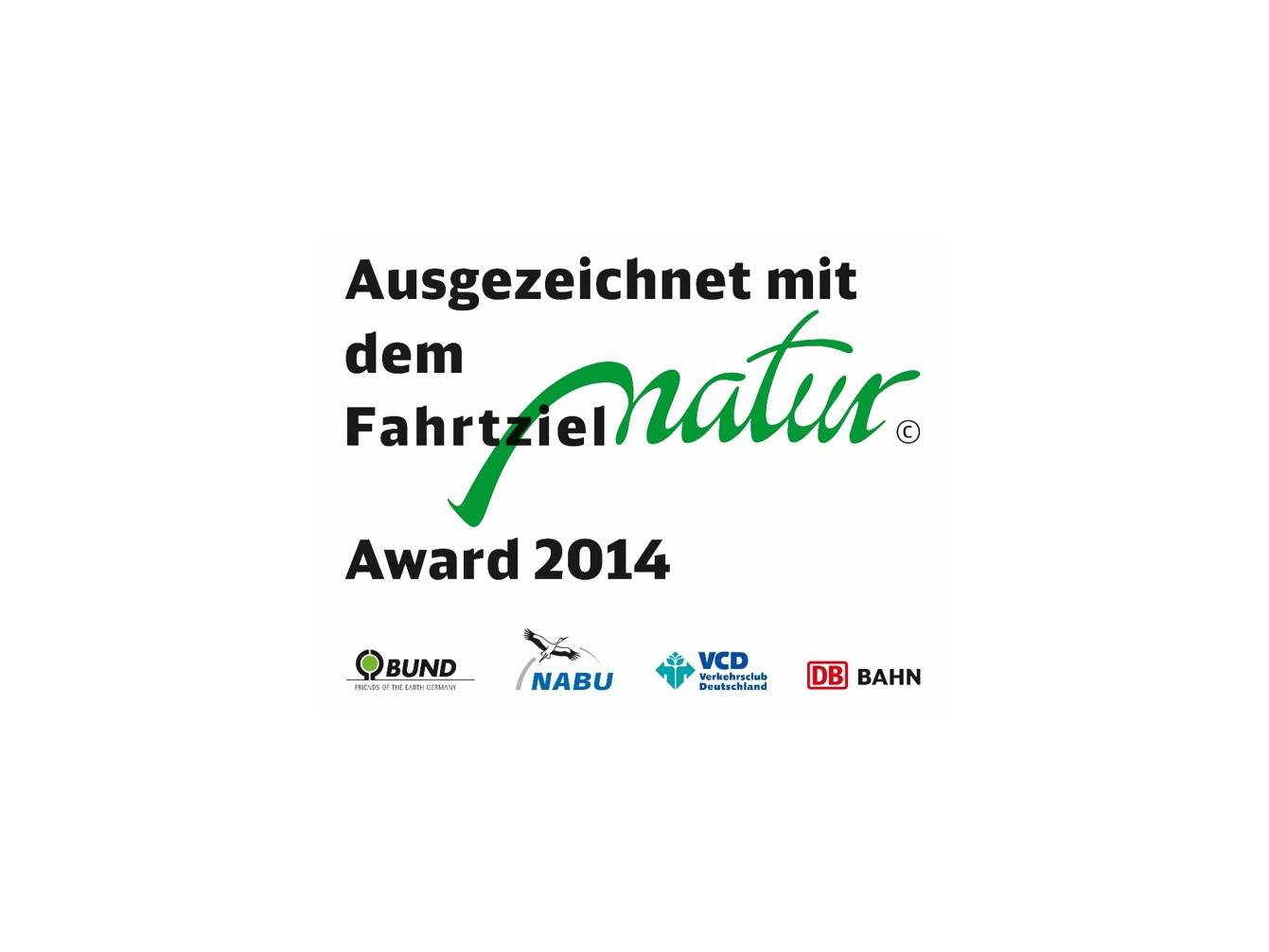 Logo FahrtzielNatur Award 2014